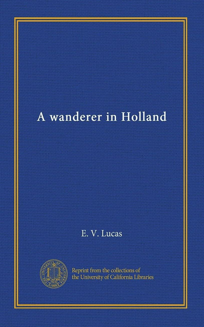より平らな乳製品慈悲深いA wanderer in Holland