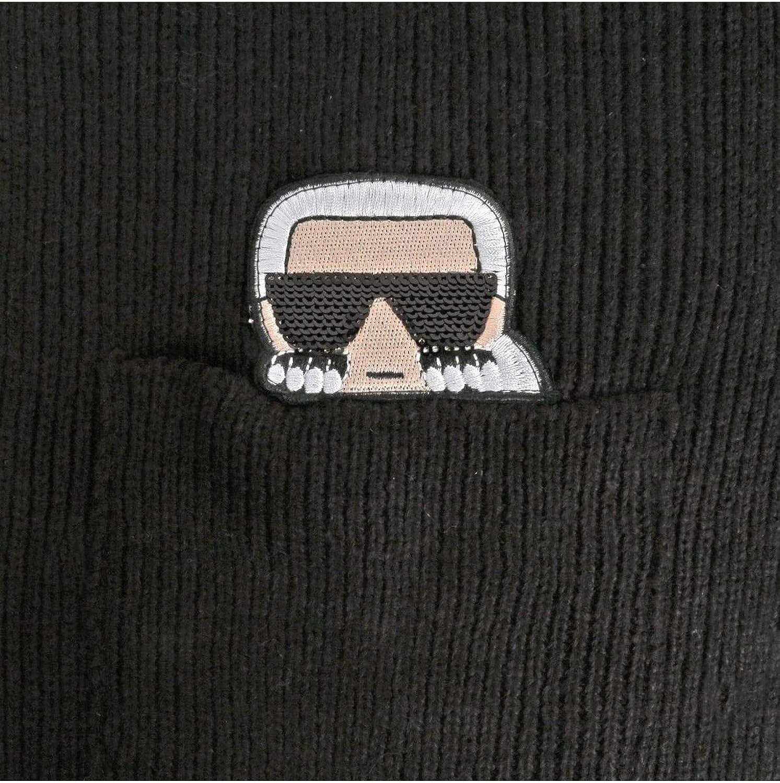 Karl Lagerfeld Paris womens Peekaboo Pocket Patch Scarf