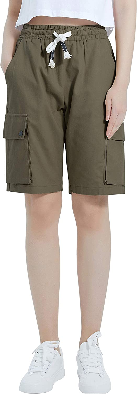 Popular products XinYangNi Women's Cargo Shorts Elastic Waist Cotton Max 54% OFF Drawstring L