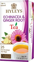 Sponsored Ad - HYLEYS Tea Natural Echinacea & Ginger Root Green Tea - 25 Tea Bags - (100% Natural, Sugar Free, Gluten Free...