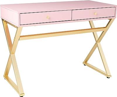 ACME Coleen Desk - - Pink & Gold