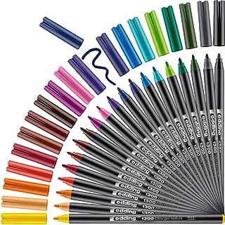 edding 1300 Colourpen Fine Bullet Tip Pack of 20 - Assorted