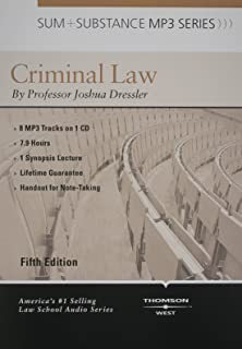 Dressler's Sum and Substance Audio on Criminal Law, 5th (Disc for a MP3 Download)
