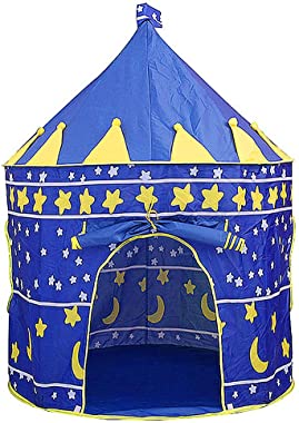BEIKOTT Kids Play Tent, Toddler Playhouse Prince Princess Castle, Foldable Pop Up Kids Tent with Carrying Bag for Gifts/Trave