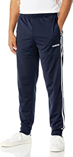 adidas Men's Essentials 3-Stripes Tapered Tricot Pants