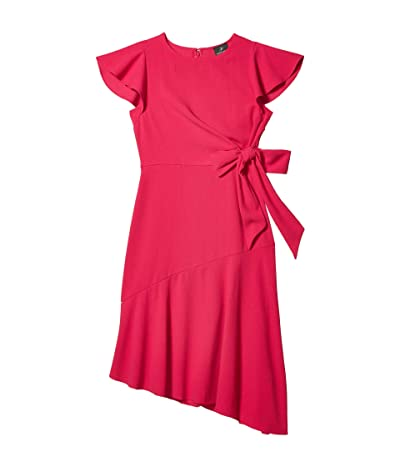 Adrianna Papell Divine Crepe Tie Dress (Bright Azalea) Women