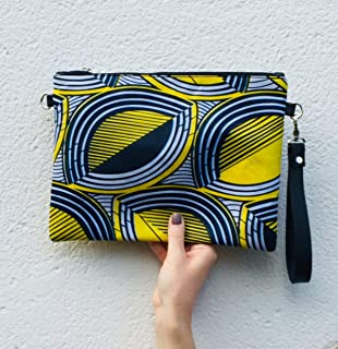 8885eb0974 African Bag Handbag Clutch wax print african print ankara print ethnic  graphic yellow black print :