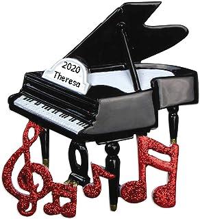 Personalized Piano Christmas Tree Ornament 2020 - Black Keyb