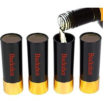 Barbuzzo 12-Gauge Shot Glasses - Set of 4 - Shotgun Shell Shaped Shots