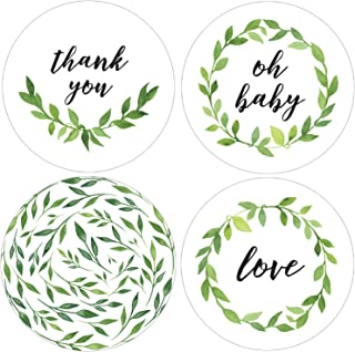 Greenery Baby Shower Thank You Labels - 1.75 in - 40 Stickers