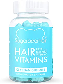 SugarBearHair Vitamins, Vegetarian Gummy Hair Vitamins with Biotin, Vitamin D, Vitamin B-12, Folic Acid, Vitamin A (1 Mont...