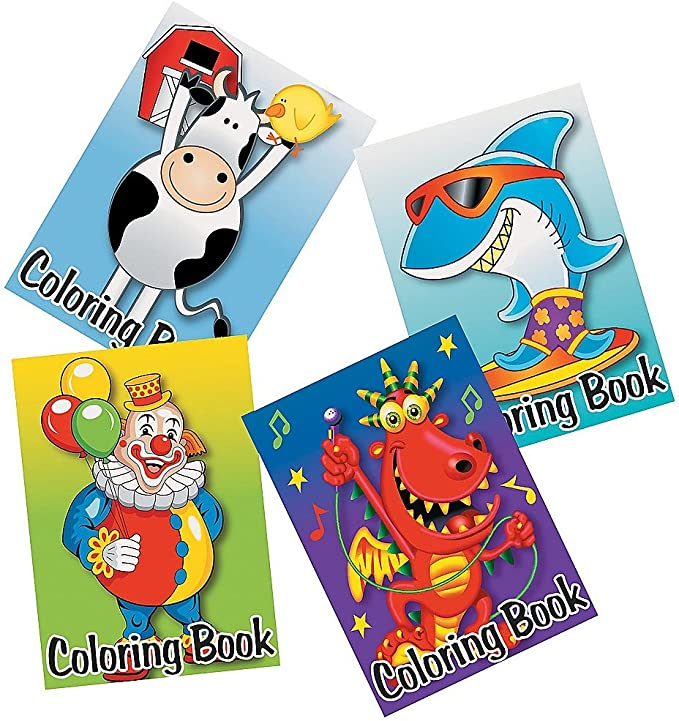 Bulk Coloring Books for Kids Variety Assortment 5 x 7 Each Pack of 48 Craytastic