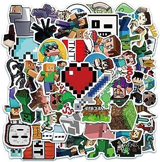 Game Mine_Craft Stickers [50 Pack] Vinyl Waterproof Stickers for Laptop,Helmet,Bumper,Water Bottles,Computer,Phone,Hard ha...