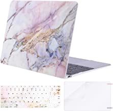 MOSISO Plastic Pattern Hard Shell Case & Keyboard Cover & Screen Protector Compatible with MacBook 12 inch with Retina Display (Model A1534, Release 2017 2016 2015), Colorful Marble