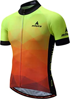 MILOTO Men's Cycling Jersey Breathable Short Sleeve Reflective