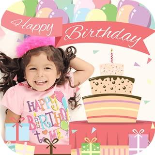 happy birthday cake photo frame editor
