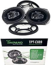 6 x 9 3 Way Coaxial Loud Speaker Slim Design Pro Audio 560W Timpano TPT-CX69