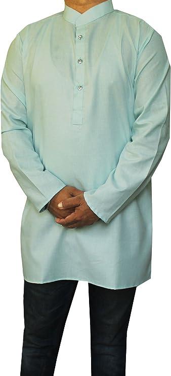 Maple Clothing camiseta para hombre mangas largas, de algodón, estilo de la India