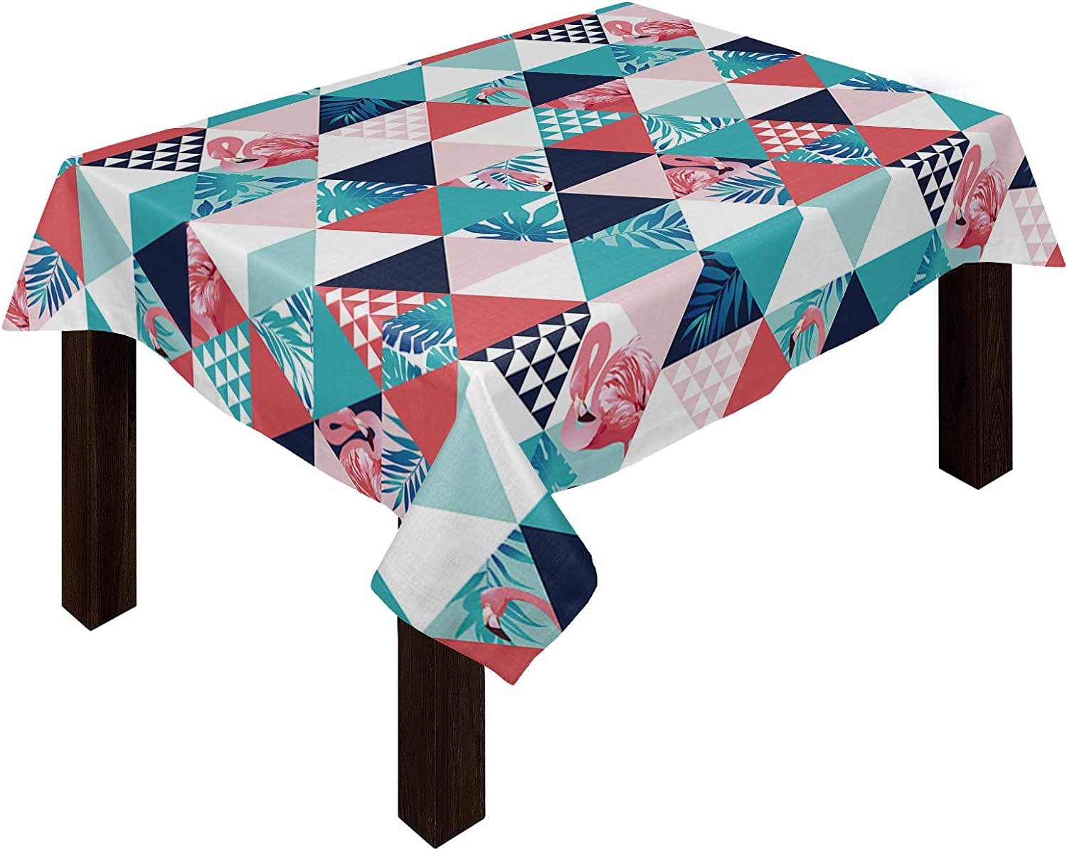 COLORSUM Stain Proof Table Cloth Flamingoes and on Plants Summer Limited time cheap sale Finally resale start