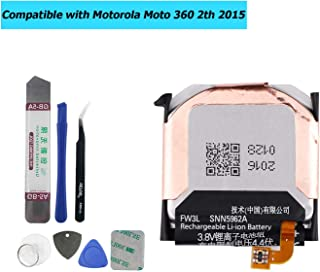 Upplus SNN5962A FW3L Replacement Battery Compatible with Moto 360 2nd-Gen 2015 Smart Watch with Toolkit