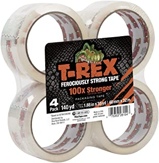 T-REX Clear Packing Tape Refill, 4 Rolls, 1.88 in. x 35 yd. (285045)