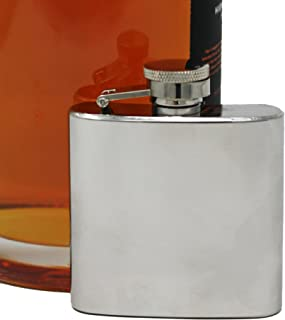 2.5 oz Pocket Hip Alcohol Liquor Flask in Shiny Print - Made from 304 (18/8) Food Grade Stainless Steel