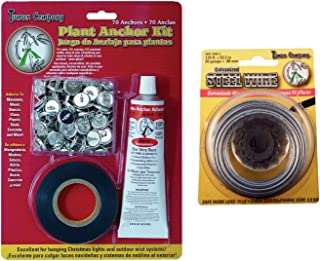 Tumax Plant Anchor Kit for Training Vines Roses and Garden Plants | Bundled with Galvanized Steel Wire 20ga
