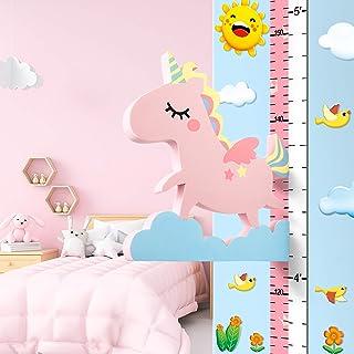 Baby meetlat hoogte diagram voor kinderziemmer decoratie, 3D beweegbare vliegende eenhoorn hoogtemeter kleuterschool dier ...