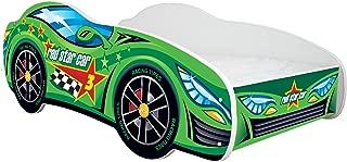 Racing Lit Voiture Enfants Garçons Filles Lit avec Matelas 140x70cm PROMOTION Cadeau Gratuit