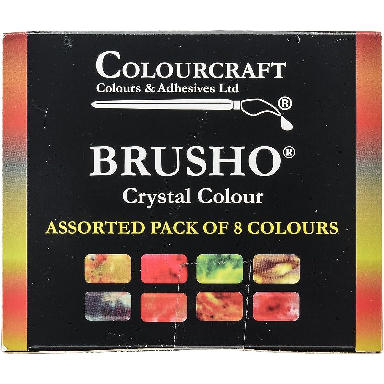 PanPastel BASS08 Brusho Crystal Colours Set 8/Pkg-Assorted Colors,