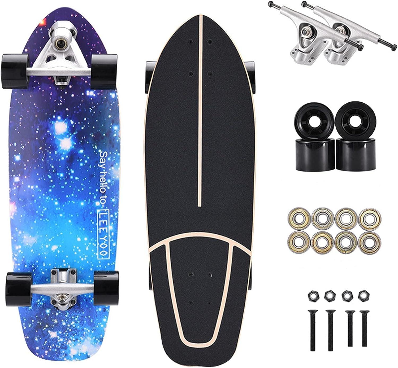 SMYONGPINGPDouble rocker Free shipping on posting reviews four-wheel Professional skateboard Ranking TOP2 29