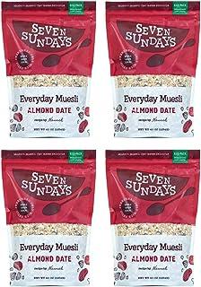 Seven Sundays No Added Sugar Almond Date Muesli, (40oz, 4-Pack)