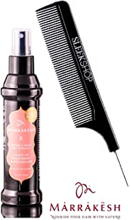 Marrakesh X LEAVE-IN TREATMENT & DETANGLER (Isle of You Scent) with Argan & Hemp Oil Therapy Spray Conditioner by Earthly Body (with Sleek Steel Pin Tail Comb) (Isle of You - 4 oz / 118 ml)