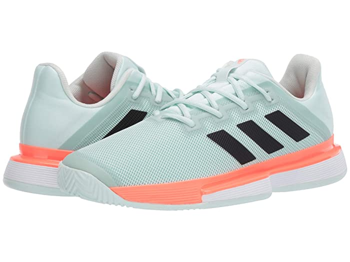 adidas  SoleMatch Bounce (Dash Green/Core Black/Signal Coral) Mens Tennis Shoes