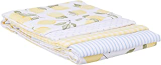 Hudson Baby Unisex Baby Cotton Flannel Receiving Blankets, Lemons, One Size 4-Pack