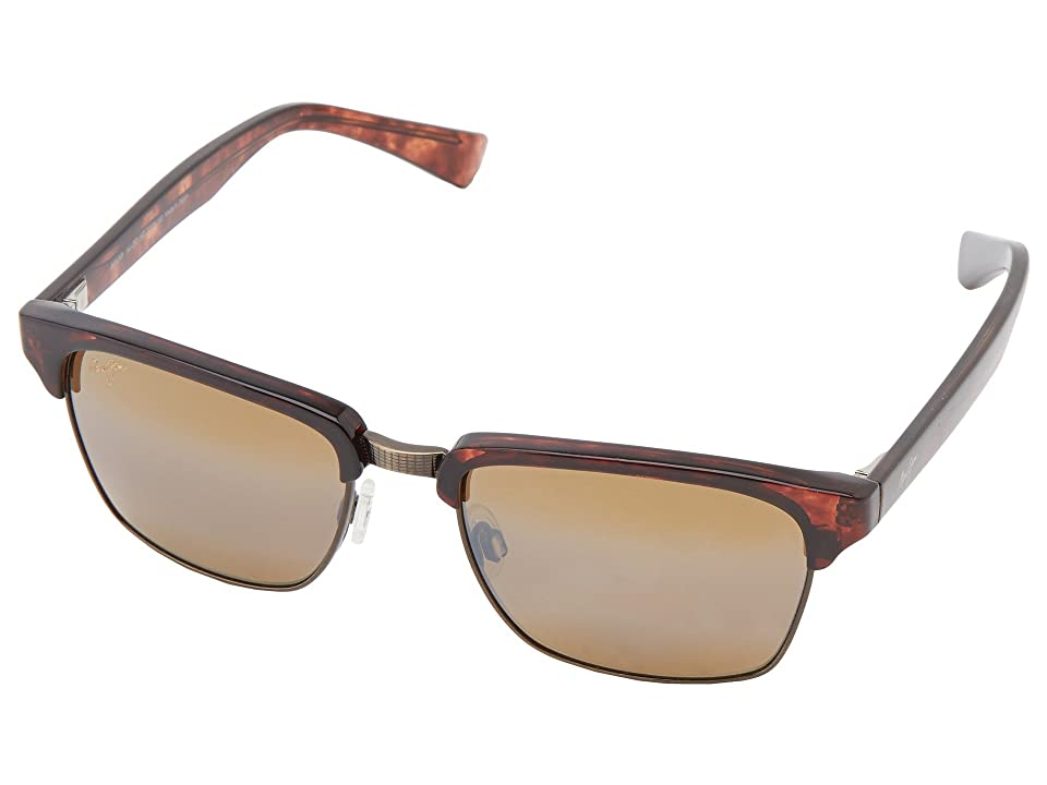 Maui Jim Kawika (Tortoise w/ Antique Gold/HCL Bronze) Sport Sunglasses