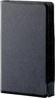 エレコム Walkman A 2016 (A30シリーズ対応) ソフトレザーカバー 横型フラップ ウルトラスリム ケース チャコールブラック AVS-A16WDTBK