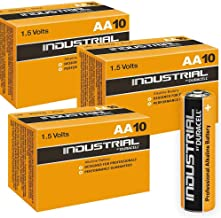 DURACELL 30 X AA Industrial Alkaline Battery - Orange