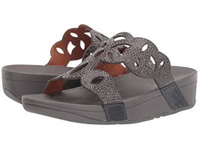 FitFlop Elora Crystal Slide (Pewter) Women