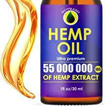 Hemp Oil Extract 55 000 000mg, Immune System Support, Pain and Anxiety Relief, Vitamin C, Organic Extra Strong Formula, He...