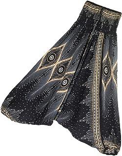 Baosity Cotton Harem Pants Boho Aladdin Harem Pants Jumpsuit Costume for Ladies, Women,Girls