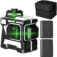 Romacci Ferramenta de nível de laser multifuncional 3D de 12 linhas Linhas horizontais verticais com função de autonivelam...