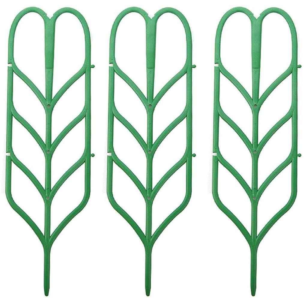でる恐怖症オーバーラン1st market 人気の3ピースミニDIY葉の形庭のトレリス植物格子ポットアイビーキュウリrat登山植物の創造的で便利なサポート
