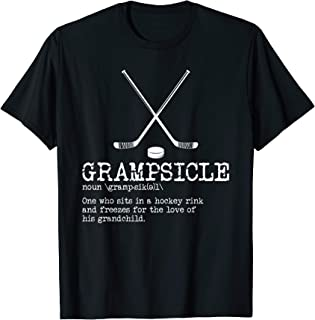 Hockey Grandpa Shirt - Grampsicle Definition Funny T Shirt T-Shirt