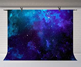 FUERMOR Space Stars Background 10x7ft Blue Starry Sky Photography Backdrop Studio Photo Props Room Mural GEFU553