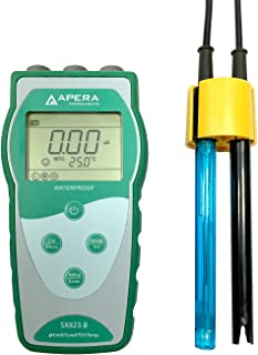 Apera Instruments SX823-B Portable Multi-Parameter Meter Kit (pH/Conductivity/TDS/Temp.), Accuracy: ±0.01 pH; ±1% F.S