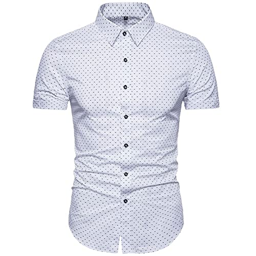 645ab01212d MUSE FATH Men s Printed Dress Shirt-Cotton Casual Short Sleeve Regular Fit  Shirt