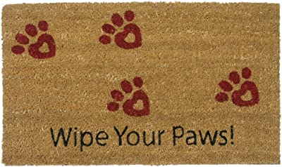 Rubber-Cal Wipe Your Paws! Animal Doormats, 18 x 30-Inch