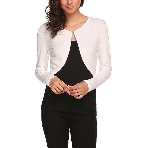 923cb7351ae HOTOUCH Women Long Sleeve Bolero Shrug Knit Cropped Knitwear Cardigan  Sweater Shrug Bolero Jackets