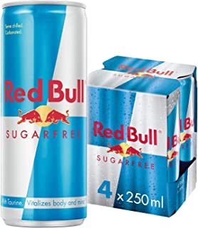 Red Bull Sugar Free, 250ml (Pack of 4)